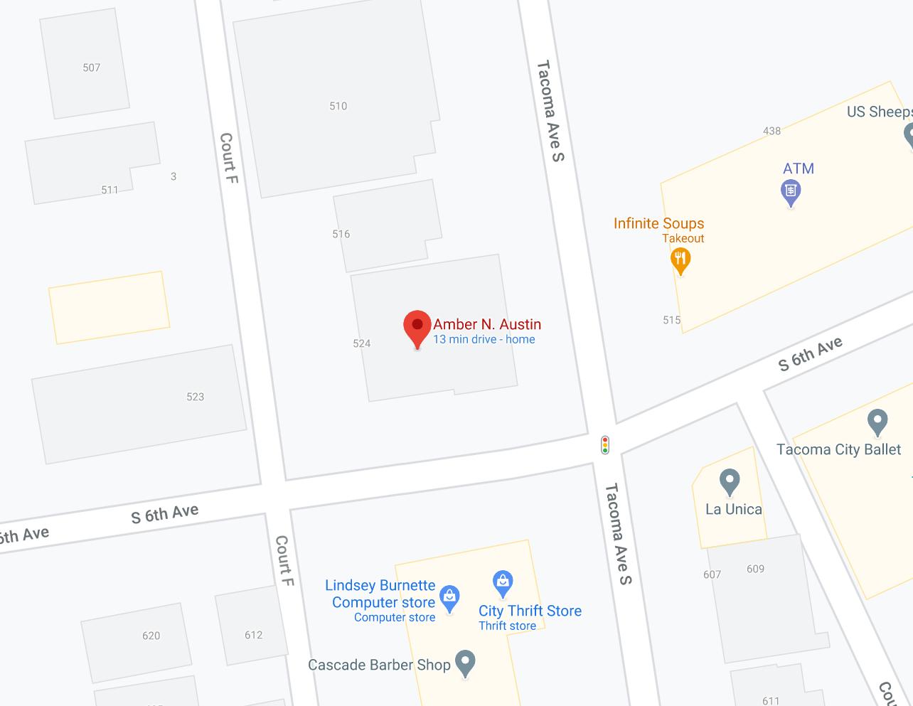 Amber Austin Google Map location